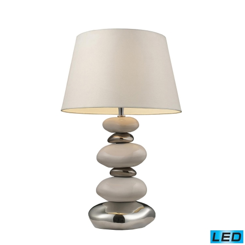 3948/1 -LED Elemis Table Lamp - Pure White and Chrome