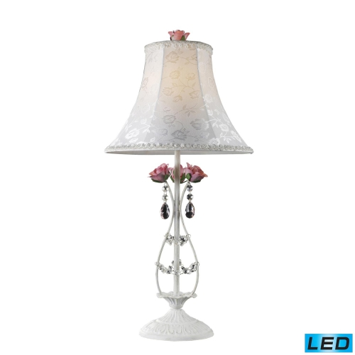 4051/1-LED Rosavita Table Lamp - Antique White