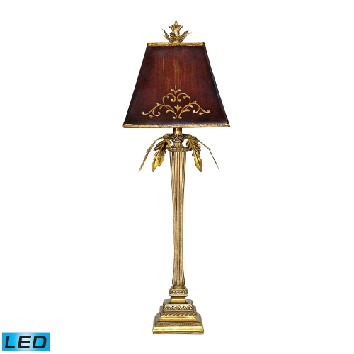 91-078-LED Draping Leaf Table Lamp - Gold Leaf