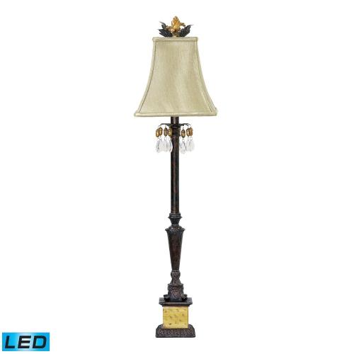 91-267-LED Acorn Drop Table Lamp - Black / Era Gold