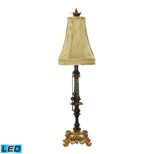 91-365-LED Josephine Table Lamp - Black / Gold Leaf