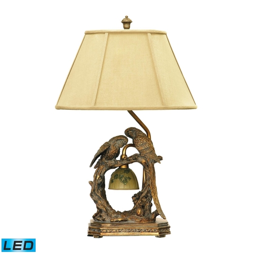91-507-LED Twin Parrots Table Lamp - Atlanta Bronze
