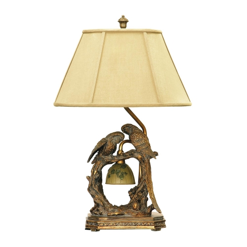 91-507 Twin Parrots Table Lamp - Atlanta Bronze