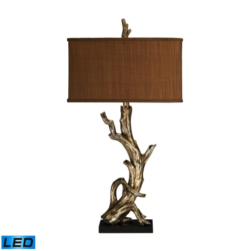 91-840-LED Driftwood Table Lamp - Silver Leaf
