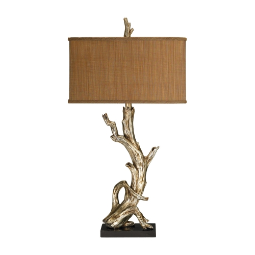 91-840 Driftwood Table Lamp - Silver Leaf
