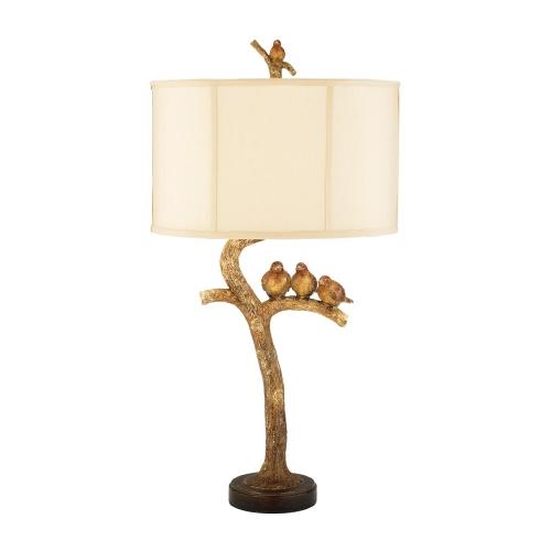 93-052 Three Bird Light Table Lamp - Gold Leaf / Black