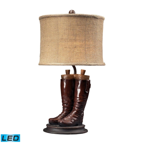 93-10012-LED Wood River Table Lamp - Polished Tan