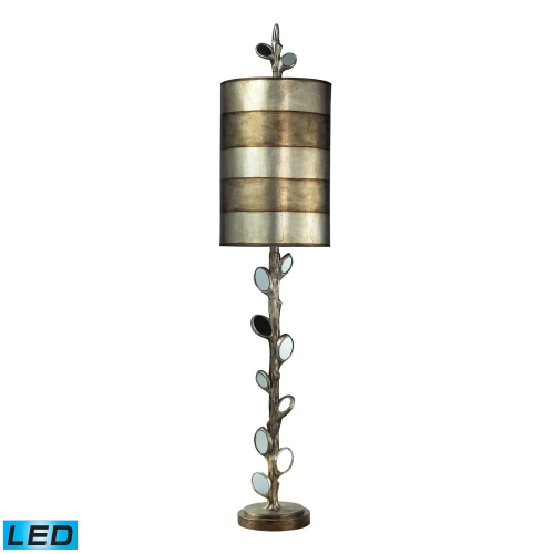 93-9111-LED Amherst Table Lamp - Mirror and Antique Silver