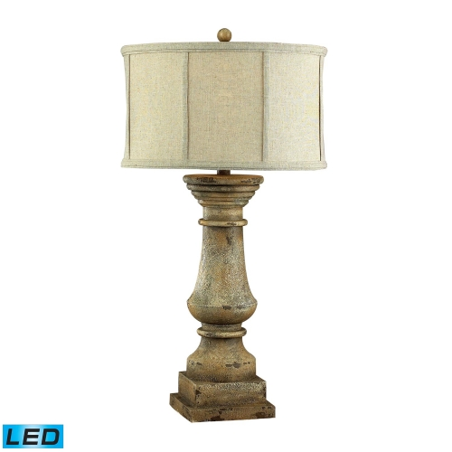 93-9121-LED Cahors View Table Lamp - Monkstown Distressed Beige