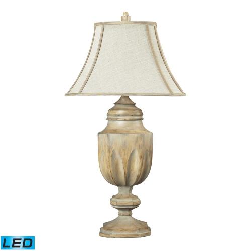 93-9243-LED Lone Oak Table Lamp - Bleached Wood