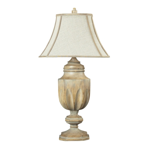 93-9243 Lone Oak Table Lamp - Bleached Wood