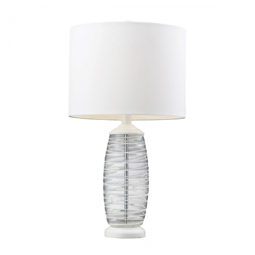 D125 Table Lamp - Clear/White