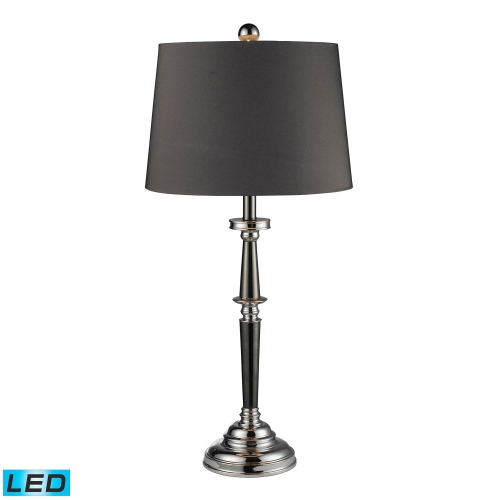 D1406-LED Monaca Table Lamp - Black Nickel and Chrome