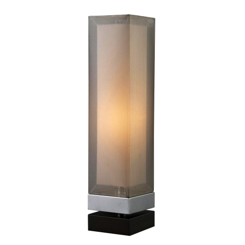 D1409 Volant Table Lamp - Chrome and Espresso Painted Bass