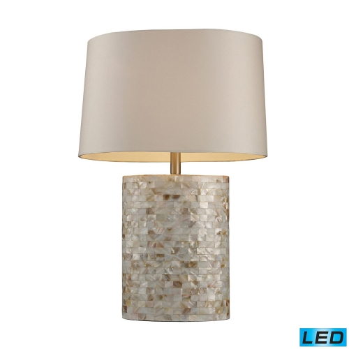 D1413-LED Sunny Isles Table Lamp - Mother Of Pearl