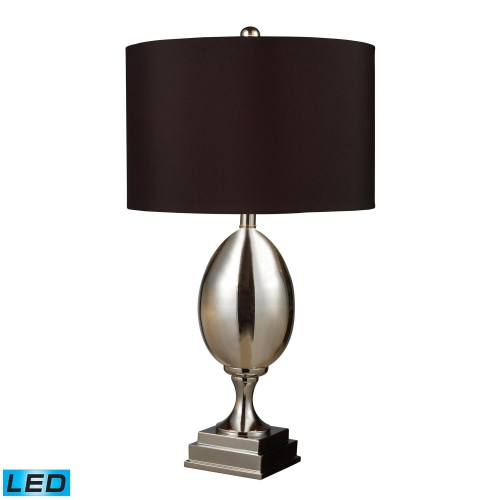 D1426B-LED Waverly Table Lamp - Chrome Plated Glass