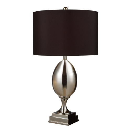 D1426B Waverly Table Lamp - Chrome Plated Glass