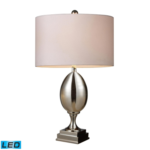 D1426W-LED Waverly Table Lamp - Chrome Plated Glass