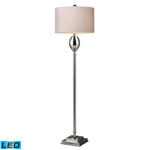D1427W-LED Waverly Floor Lamp - Chrome Plated Glass