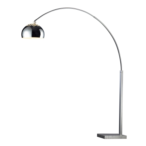 D1428 Penbrook Floor Lamp - Silver Plated and White Marble