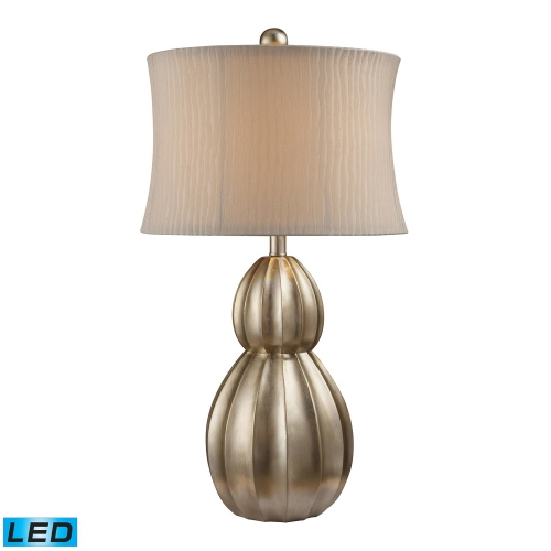 D1444-LED Marion Table Lamp - Antique Silver Leaf
