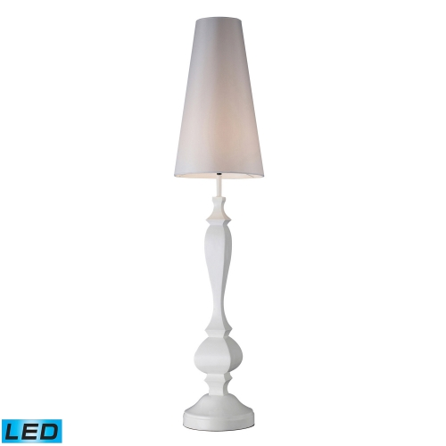 D1466-LED Palmyra Floor Lamp - Gloss White