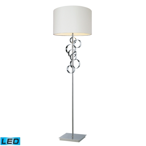 D1476-LED Avon Floor Lamp - Chrome