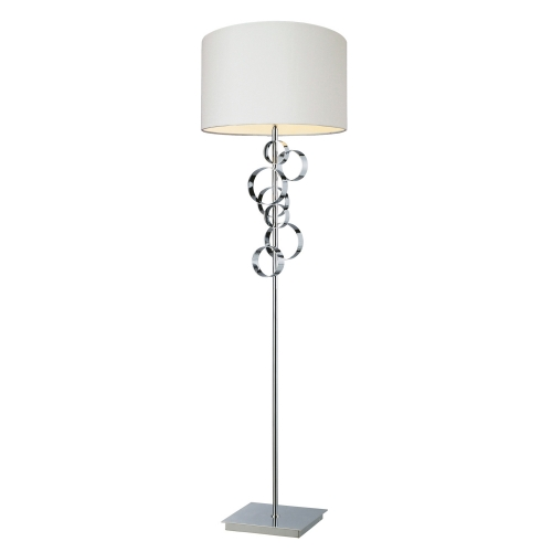 D1476 Avon Floor Lamp - Chrome