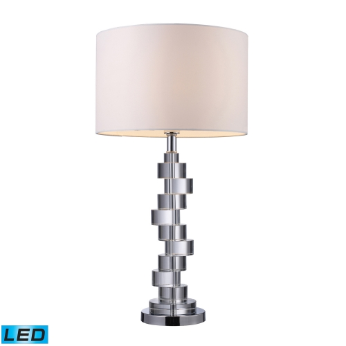 D1480-LED Armagh Table Lamp - Clear Crystal and Chrome