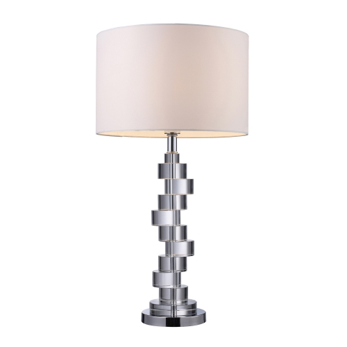 D1480 Armagh Table Lamp - Clear Crystal and Chrome