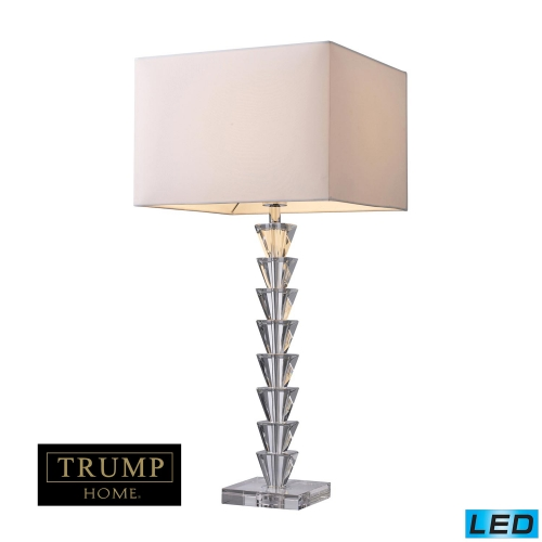 D1482-LED Fifth Avenue Table Lamp - Clear Crystal