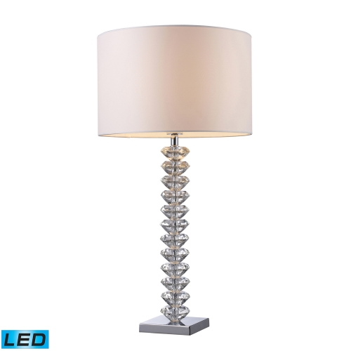 D1483-LED Modena Table Lamp - Clear Crystal