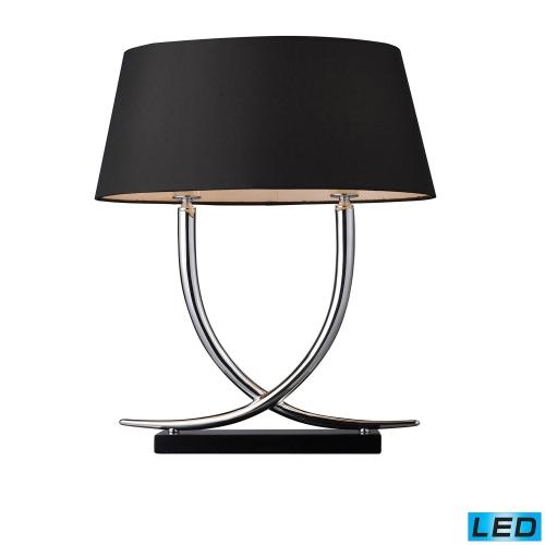 D1486-LED Park East Table Lamp - Chrome and Black