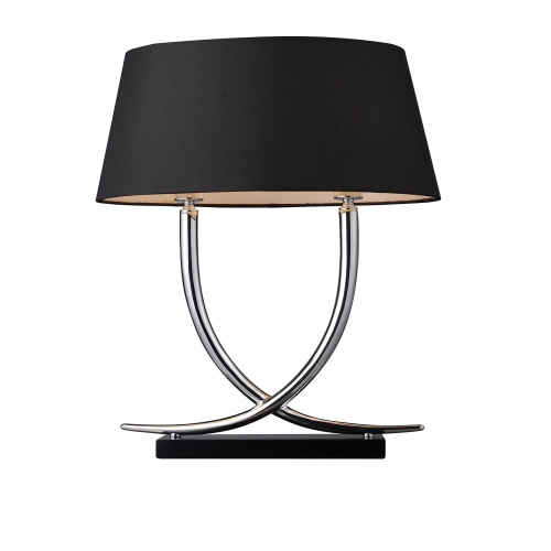 D1486 Park East Table Lamp - Chrome and Black