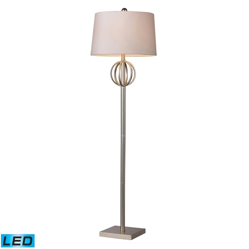 D1495-LED Donora Floor Lamp - Silver Leaf
