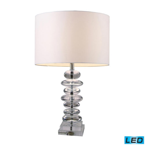 D1512-LED Madison Table Lamp - Clear Crystal