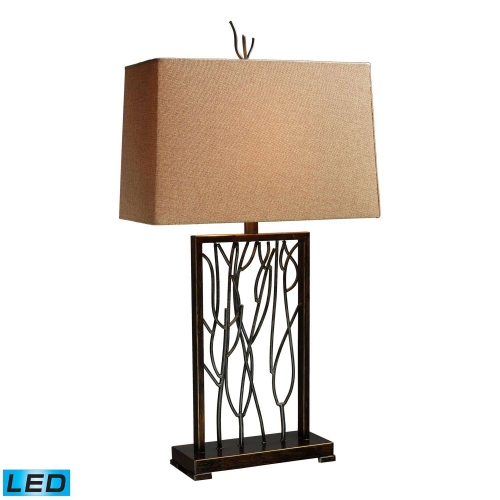 D1518-LED Belvior Park Table Lamp - Aria Bronze and Iron