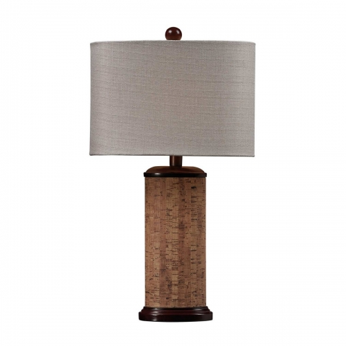 D159 Table Lamp - Natural Cork/Brown