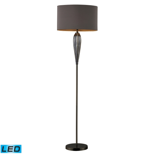 D1598-LED Carmichael Floor Lamp - Steel Smoked and Black Nickel