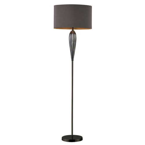 D1598 Carmichael Floor Lamp - Steel Smoked and Black Nickel