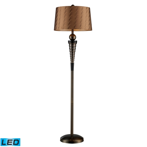 D1739-LED Laurie Floor Lamp - Dunbrook and Dark Wood