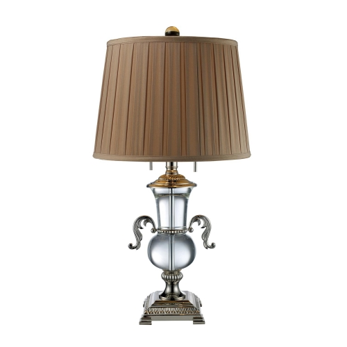 D1810 Raven Table Lamp - Clear Crystal and Polished Nickel