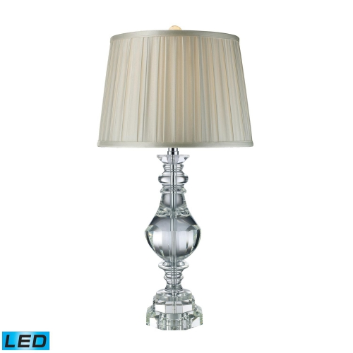 D1812-LED Donaldson Table Lamp - Clear Crystal
