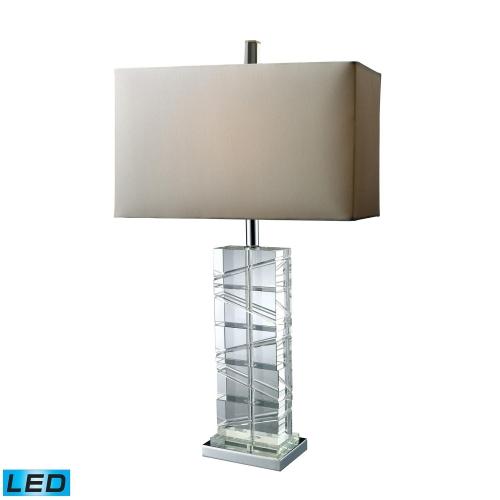 D1813-LED Avalon Table Lamp - Chrome and Crystal