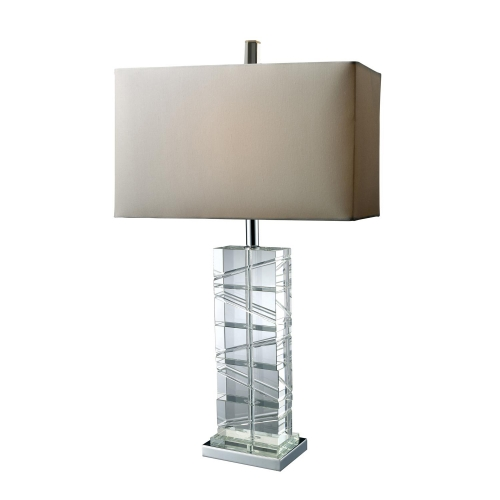 D1813 Avalon Table Lamp - Chrome and Crystal