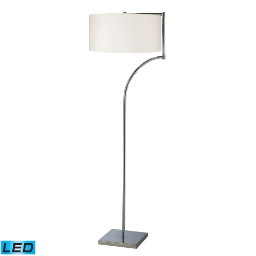 D1832-LED Lancaster Floor Lamp - Chrome