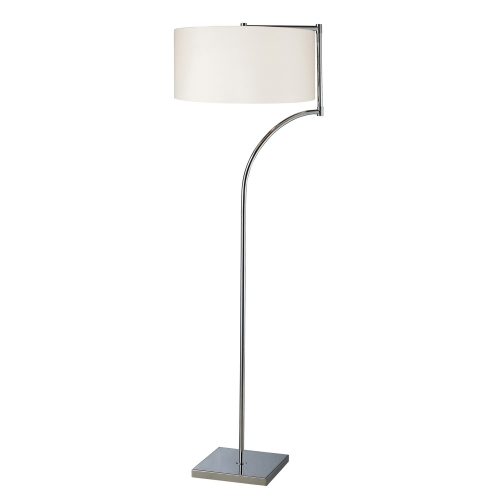D1832 Lancaster Floor Lamp - Chrome