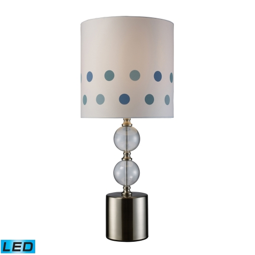D1838-LED Fairfield Table Lamp - Chrome and Clear Glass