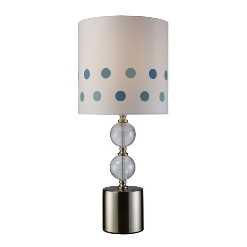 D1838 Fairfield Table Lamp - Chrome and Clear Glass