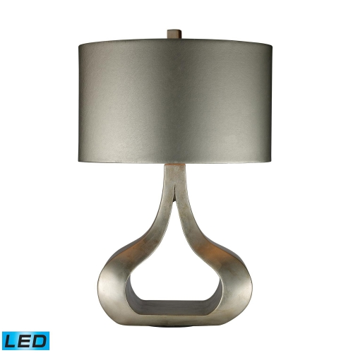 D1840-LED Carolina Table Lamp - Silver Leaf